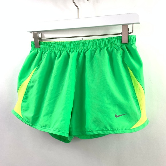 Nike Pants - Nike Small Running Shorts Neon Green 3″ Brief